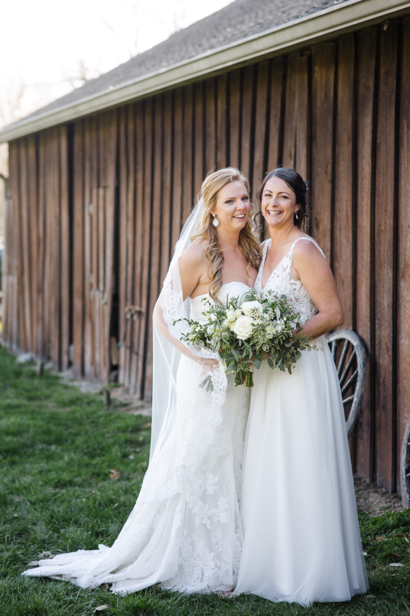 LGBT Lesbian Wedding The Barn in Zionsville Indiana